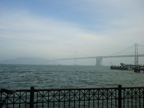 It was a little overcast, but we could just see the Bay Bridge
